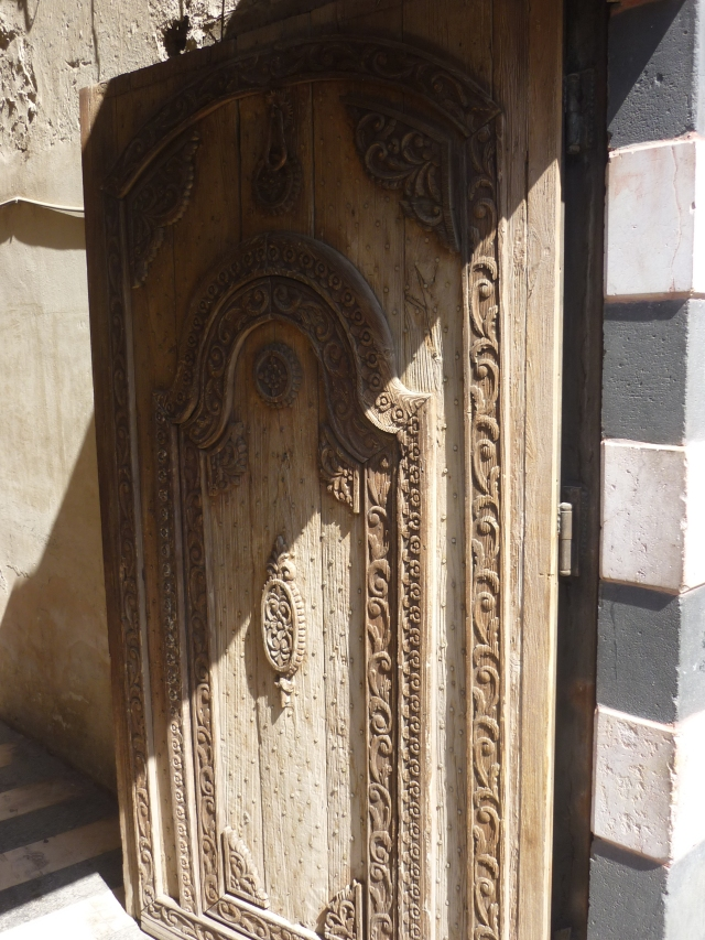 A beautiful Damascene door