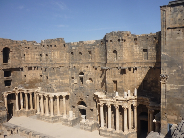 The stage at Bosra's amphitheatre