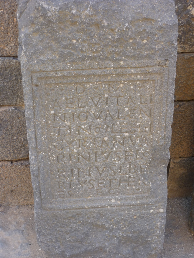 Latin inscriptions at Bosra